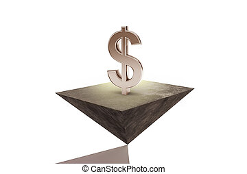 Stability and wealth concept - Abstract dollar sign on...