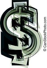 Abstract dollar Symbol illustration
