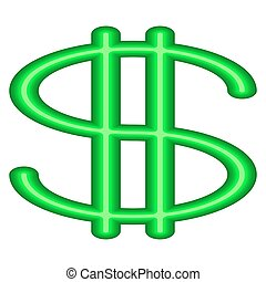 Abstract dollar symbol - Illustration of the abstract dollar...