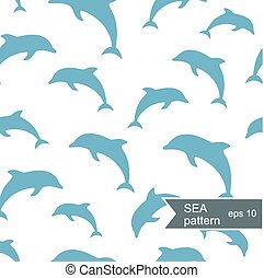 Abstract dolphin pattern.