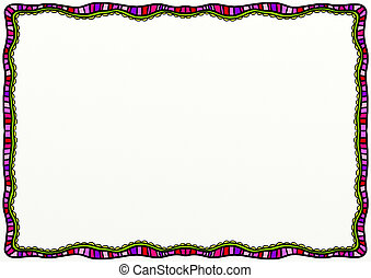 Abstract Doodle Page Border Decoration
