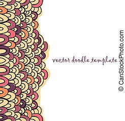 abstract doodle vector background with place for text