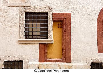 Abstract Doorway and Window