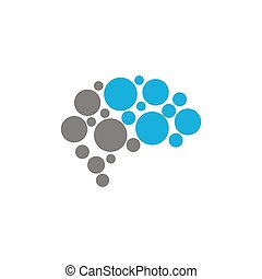 abstract doted brain logo icon template