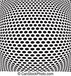 abstract dots optical art op art background