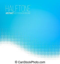 Abstract dotted background - Abstract dotted blue wave...