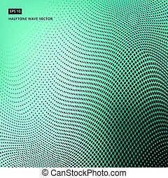 Abstract dotted background. Halftone wave effect vector background