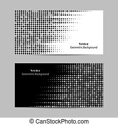 Abstract dotted background. Halftone. Vector illustration in black and white colors