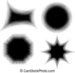 Abstract dotted element for design, vector