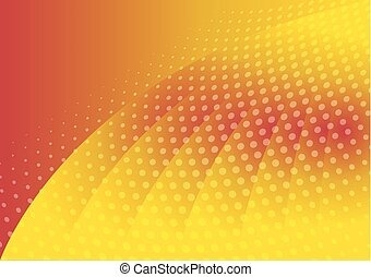 Abstract dotted on orange color background