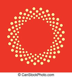 Abstract dotted shape. Vector design element.