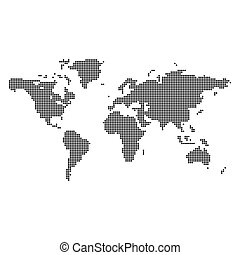 Illustration with abstract dotted world map on a grey vectors abstract dotted world map gumiabroncs Gallery