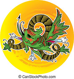 Abstract Dragon - Vector illustration