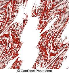 Abstract Dragon Tattoo Vector...