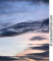 Abstract dramatic twilight sky background
