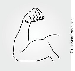 Abstract drawing of a man's arm