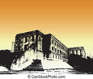 Alcatraz - Abstract drawing of Alcatraz