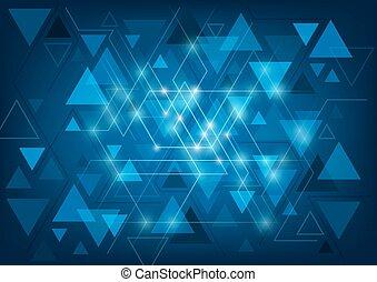 abstract, driehoekig, achtergrond