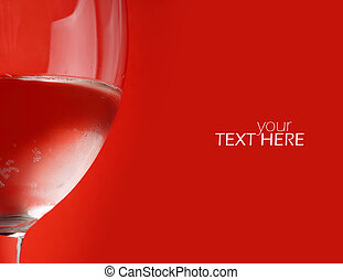 Abstract drink in glass with the copy space