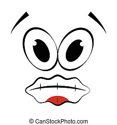 Abstract dumb expression - Dumb expression isolated on white...
