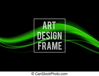 Abstract dynamic art design template