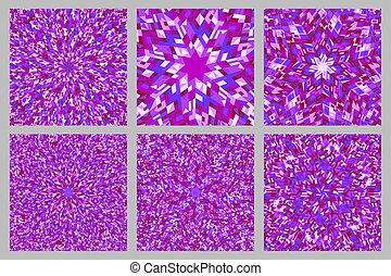 Abstract dynamic circular tile pattern background design set