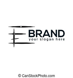 Abstract E Logo. flat design. Vector Illustration on white background