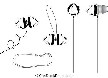 Abstract earphone