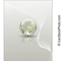 Abstract Earth globe composition
