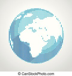 Abstract Earth illustration. Vector design template