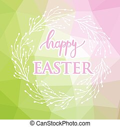 Abstract easter card