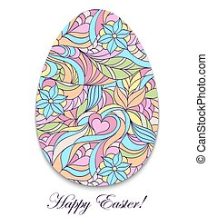 Abstract easter egg on white background. Vector illustration...