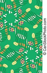 Abstract Easter Eggs in Grass Pattern