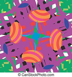 Abstract Easter Eggs Pattern