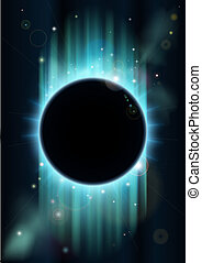 Abstract eclipse background