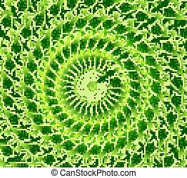 abstract eco bright green lives circle vector