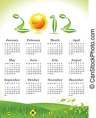 abstract eco calender