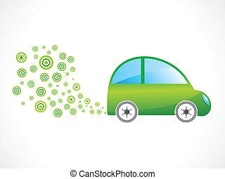 abstract eco car