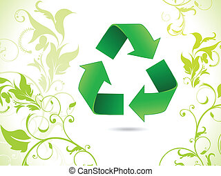 abstract eco glossy recycle icon