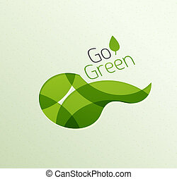 Abstract eco green shape