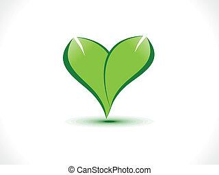 abstract eco heart icon