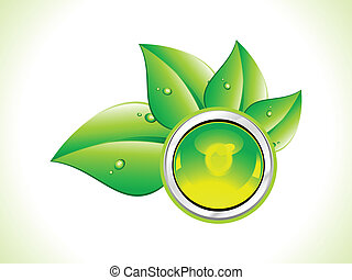 abstract eco leaf concept