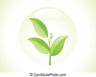 abstract eco leaf