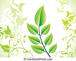 abstract eco leaf.