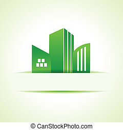 Abstract eco real estate design