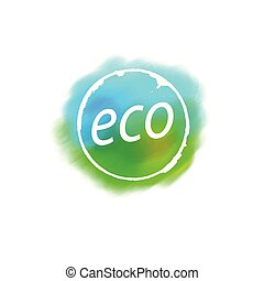 Abstract eco sign. Vector illustration of the icon