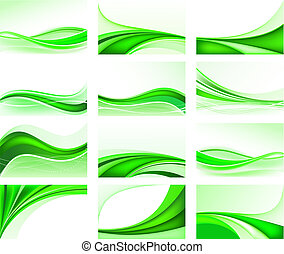 Abstract ecology background set