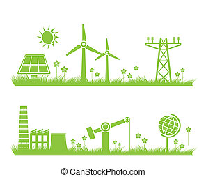abstract ecology, industry, nature - abstract ecology,...