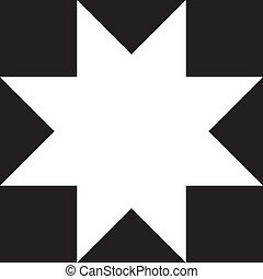 Abstract eight-pointed star, negative space, negative space ...