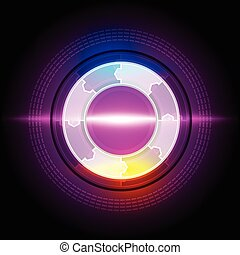 abstract electric circle button